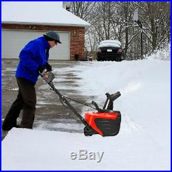 18-Inch 15 Amp Electric Snow Thrower Driveway Clean 720Lbs/Minute Snow Blower