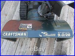 1999 Craftsman Snow Blower EZ Steer Track Drive 9HP 28 Cut Runs Good! LQQK