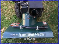 2003 Craftsman Dual Stage Snow Blower Thrower 9HP 29 Inch Tecumseh