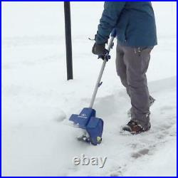 24V 11 in Cordless Snow Shovel 2 Blade Auger Blower Thrower Outdoor Path Remover
