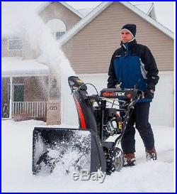 24 In. 2-Stage Electric Start Gas Snow Blower Thrower Snowblower Free Shipping