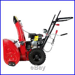 24 inch Snow Blower Thrower 196cc Two Stage Gas Snow Engine