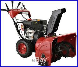 26 in. 212cc Two-Stage Electric & Recoil Start Gas Snow Blower Snow Thrower