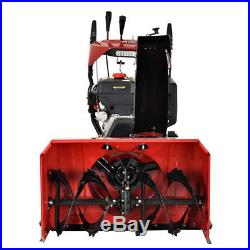 28 in. 265cc Two-Stage Electric & Recoil Start Gas Snow Blower Snow Thrower New