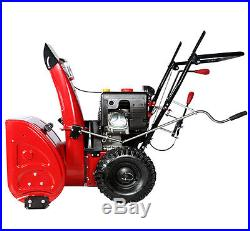 28 inch 265cc Two-Stage Electric Start Gas Snow Blower/Thrower