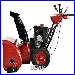 30 inch Two-Stage E-Start Gas Snow Blower with Auto-Turn Steering & Heated Grips