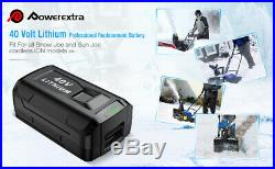 5.0Ah for Snow Joe Sun Joe Cordless Single Stage Snow Blower 40V Li-ion Battery