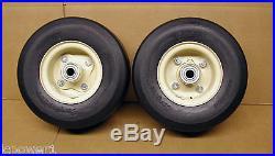 8577 (2) Tan Caster Wheel Assemblies 9X350X4 Repl. Grasshopper 603924