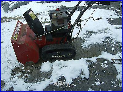 8hp snow blower on tracks. It is a 2 stage blower