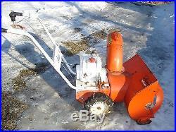 ARIENS SNO-THRO 24 5 SPEED TWO STAGE SNOW BLOWER SNOWBLOWER RUNS & WORKS EXC