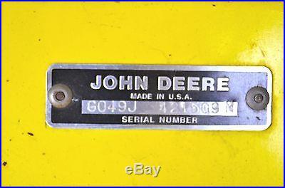 BM16002 John Deere 49 Snowthrower off 318 120 140 300 312 316 314 317 330 332 +