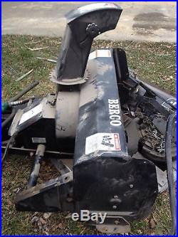 Bercomac 40 Snowblower With Mounting Bracket/weights/chains/booklet