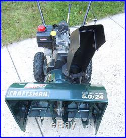 Craftsman 24 5HP Two-Stage Electric Start Snow Blower Tecumseh Snowblower