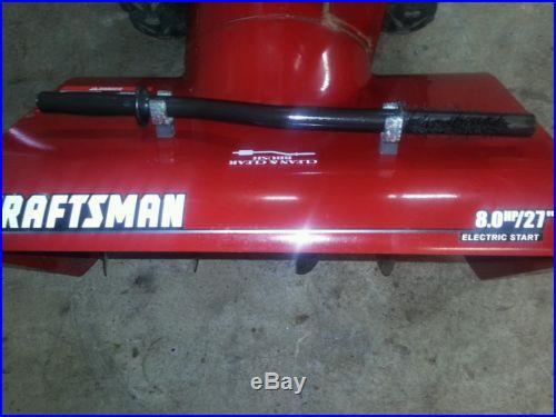 Craftsman 27 inch 8hp 2 stage snow blower