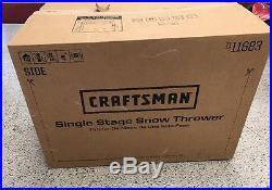 Craftsman Snowblower 21 123cc Single-Stage Gas Snow Removal Shovel Original