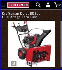 Craftsman Snowblower / Snow Thrower 26 LIKE NEW! Model 247.886940