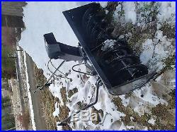 Craftsman lawn tractor snowblower attachment