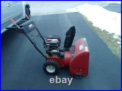 Craftsman snow blower, red, 24, electric start. Slightly used