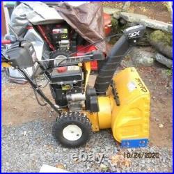 Cub Cadet 3x 24 inch snow blower gas with electric start garaged year round