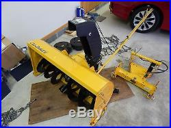 Cub Cadet Snow thrower with hydraulic hitch for 3000 series tractors