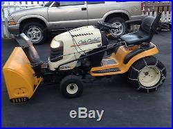 Cub Cadet super LT 1550 tractor with snowblower