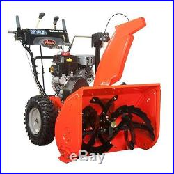 Deluxe 28 in. Two-Stage Electric Start Gas Snow Blower with Auto Turn Steering