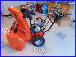 Deluxe 28 in. Two-Stage Electric Start Gas Snow Blower with Auto-Turn Steering