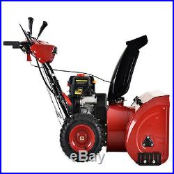 Deluxe 28 inch 252cc Two-Stage E-Start Gas Snow Blower/Thrower with Heated Grips