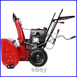 Deluxe AMICO 30 inch 302cc Two-Stage Electric Start Gas Snow Blower Snow Thrower
