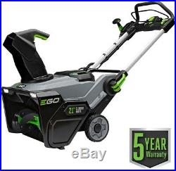 EGO Electric Snow Blower 21 in. 56-Volt Lithium-Ion Cordless Single-Stage Metal