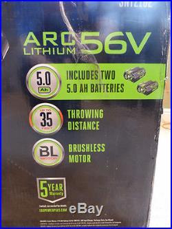 Ego Power 21 Cordless Snow Blower Snt2102 Arc Lithium 560v + 2 5.0ah Batteries