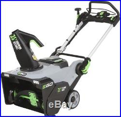 Electric Snow Blower Single Stage 21 in brushless Cordless 56 Volt Lithium Ion