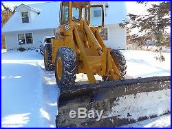 FORD A62 LOADER diesel 4x4 12 feet snow blade, newholland motor, Cat