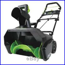 GREENWORKS PRO 2600402 20 80V Single-Stage Electric Snow Blower