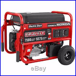 Gravely 7500 Watt Portable Generator Honda-Engine 986052