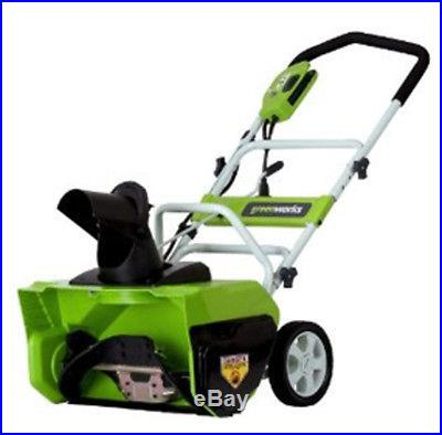 GreenWorks 12 Amp 20 Corded Snow Thrower 26032 Snow Thrower NEW