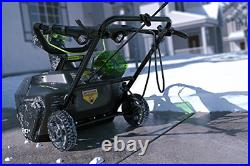 GreenWorks 2600402 Pro 80V 20-Inch Cordless Snow Thrower, 2Ah Battery & Charger