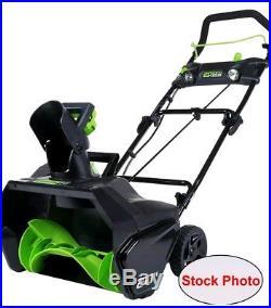 GreenWorks 80V 20 Cordless Snow Thrower Open Box