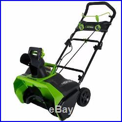 Greenworks 20-Inch 40V Cordless Brushless Snow Thrower, Battery Not Included