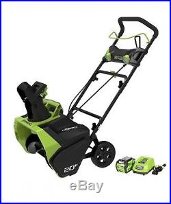 Greenworks 20-Inch 40V Cordless Snow Thrower, 4.0 AH Battery Included