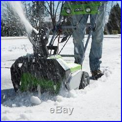Greenworks 2600202 13 Amp 20-Inch Electric Snow Thrower with Dual LED Lights