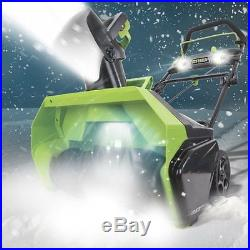 Greenworks 26272 Gmax 20 in. 40V Cordless Snow Thrower with4.0Ah Battery & Charger