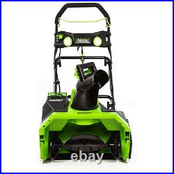 Greenworks 40V Brushless Motor Snow Blower with Battery and Charger (Used)