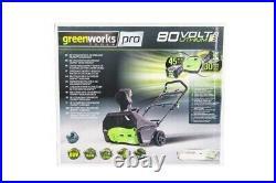 Greenworks GD80SB 80V 2600107 Schneefräse Schneeräumer Schieber 51 CM Breite