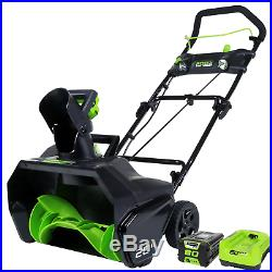 Greenworks PRO 20-Inch 80V Cordless Snow Thrower, 2.0 AH Battery Included