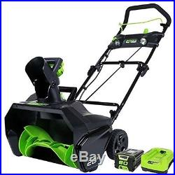Greenworks Pro 80V 20 Snow Thrower with2.0 ah battery & charger 2600402 NEW
