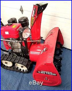 Honda Hydrostatic Trak Track Snow Blower Hs1132
