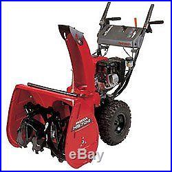 Honda Snow Thrower 24 Wide Two Stage Blower 6.5hp OHV Engine, Recoi HS724WA-SD