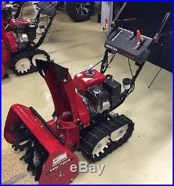Honda Snow Thrower Track Drive HS724TA 24 Wide Two Stage Blower, Recoil Start