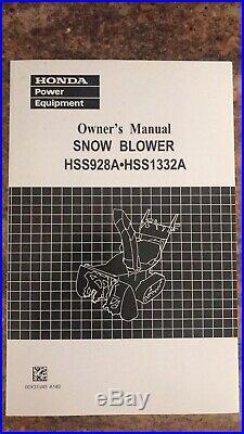 Honda Track Snowblower HSS928A